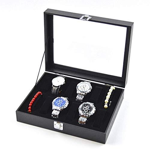qwertyuio Cajas De Reloj Organizador De Caja De Reloj Para Hombres Estuche De Exhibición De Reloj De Cuero Pu Hebilla De Metal Para Soporte De Reloj Exquisito / C