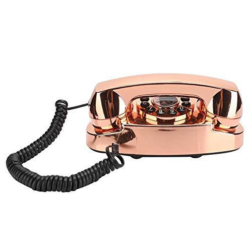 Mugast Vintage draadloze telefoon, retro antieke desktop vaste telefoon met ruisonderdrukking, toetsenkeuze en nummeropslag voor thuis/kantoor/hoteldecoratie