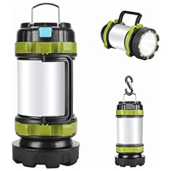 Camping Lantern Rechargeable  Alpswolf Camping Flashlight 4000mAh Power Bank,6 Modes IPX4 Waterproof Led Lantern Camping Hiking Outdoor Recreations USB Charging Cable Included