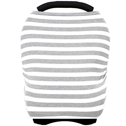 Car Seat Cover for Babies - Multi-use Carseat Canopy Nursing Cover, Car Seat Covers, Breastfeeding Cover Scarf, Infant Boys and Girls Shower Gifts
