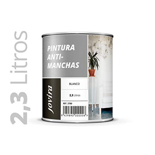CUBREMANCHAS de grasas,nicotina,humos,bolígrafo, cafe, etc. en paredes y techos. Pintura especial para cubrir definitivamente las manchas difíciles 2.3 Litros