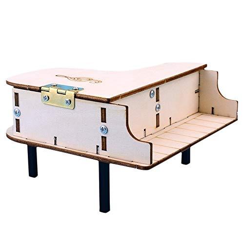 Z.L.FFLZ Vintage Music Box Klavier Puzzle Modell hölzerne Spieluhr Handkurbeln Kinder Assembly Geschenk