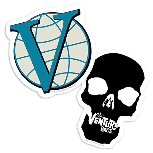 Popfunk Venture Bros Skull and Logo Collectible Stickers