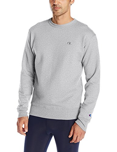 Champion Herren Powerblend Pullover Sweatshirt, Oxford Gray, Mittel