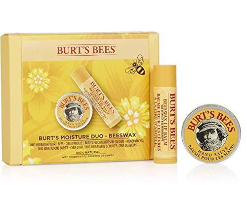 Burt's Bees Set Hidratante De Regalo Moisture Duo De Burt'S Bees Compuesto Por Bálsamo Labial De Cera De Abejas 100% Natural (4,25G) Y Bálsamo De Manos Mini (8,5G) 55 g