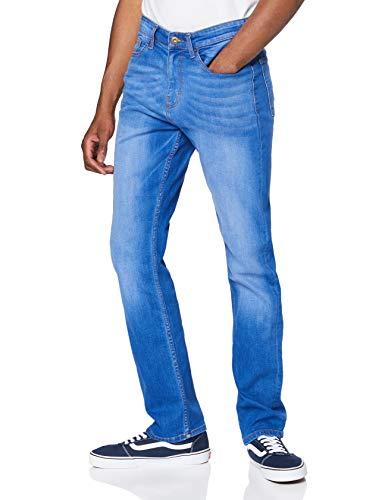 Marca Amazon - find. Vaqueros Straight Hombre, Azul (Intense Blue Intense Blue), 28W / 30L, Label: 28W / 30L
