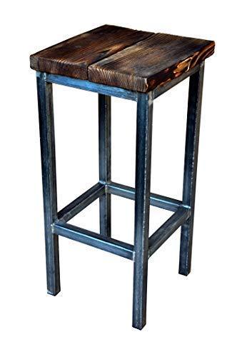 CHYRKA® Bartisch Stehtisch Barhocker Barstuhl BarMöbel SAMBOR Loft Vintage Bar Industrie Design Handmade Holz Metall (1 Hocker)