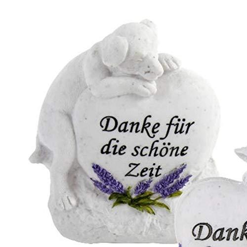Trauer-Shop Tiergedenkstein Hund Danke für die schöne Zeit. Breite 14cm. 1 Stück