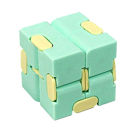 Cube Fidget Toy, Sensory Tool EDC Fidgeting Game for Kids and Adults, Cool Mini Gadget Best for Stress and Anxiety Relief and Kill Time, Unique Idea that is Light on the Fingers and Hands (Green)