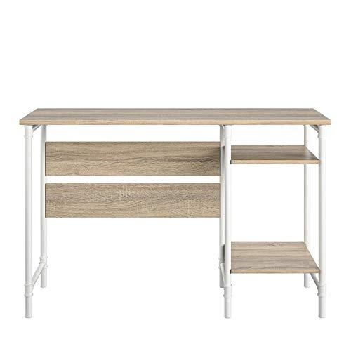 Ameriwood Home Carter Single Pedestal Desk in Weathered Oak