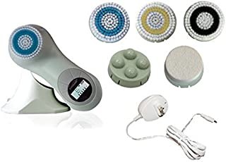 Erisonic #1 Advanced WATER-PROOF Skin Care Cleaning System - Face and Body Microdermabrasion Exfoliator - Dark Spot and Acne Scar Corrector - 5-in-1 Face Brush Set for Deep Pore Cleansing with LCD Screen and 3 Modes, 5 Level Intensity, 5 Brush Heads - Green