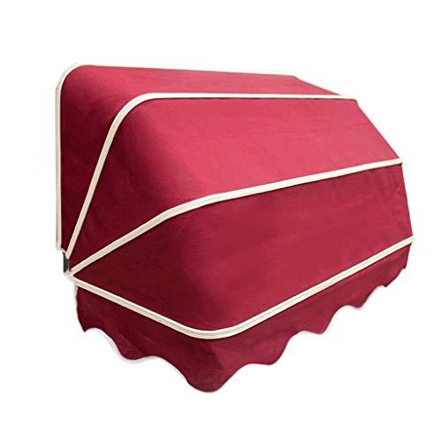 Silk Road Französische Markise, versenkbarer Baldachin, dekorative Markise für Balkon, halbrunde Markise für Fenster, Sonnenschutz, langlebige Farbe, langlebig, europäischer Stil