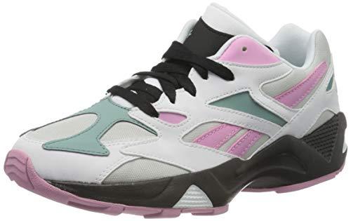 Reebok Womens AZTREK 96 Gymnastics Shoe, White/Jasmine Pink/Green Slate, 36 EU