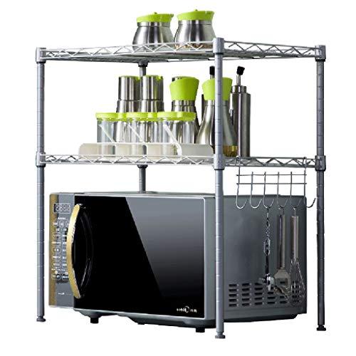 YxSD - Tendedero de hierro forjado para cocina doble de 54 x 35 x 58 cm (color: gris)