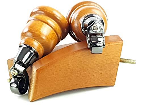 2 x goldene Eiche, 155 mm hoch, Holzmöbelbeine mit Ersatzrollen aus schwarzem Chrom und 2 geschwungenen Rückenlehnen, Sofas M8 (8 mm) TSP2007