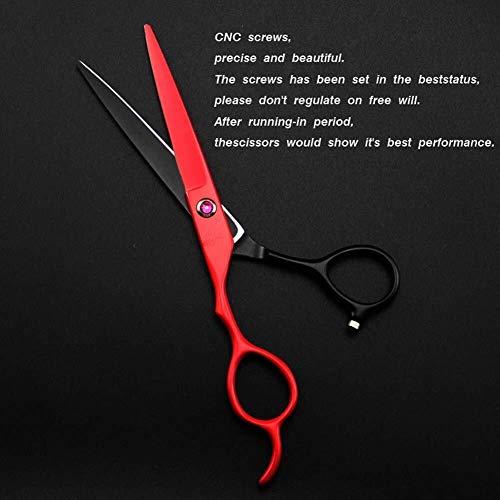 Tijeras Para Mascotas Zurdo del corte del pelo Kit profesional de tijeras de peluquería, herramientas del pelo Tijeras del pelo recto Adelgazamiento Tijeras del peluquero tijeras de peluquería