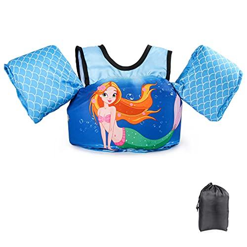 Kids Life Jacket 22-66lbs Cute Cartoon Toddler Floatie Vest Children Swim Vest Float Jacket for Boys /& Girls JEVDES Swim Vest for Toddlers