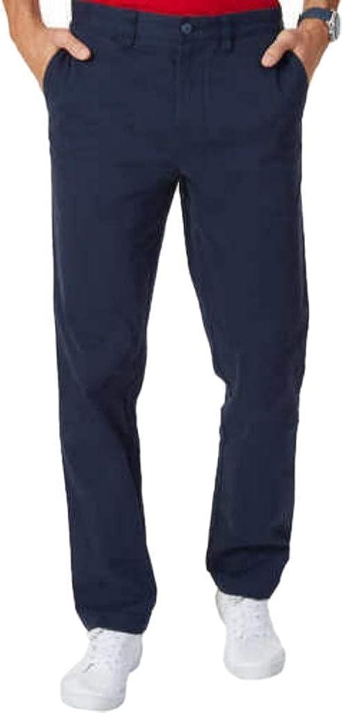 Nautica Mens Stretch Soft Twill, Classic Fit Pants (Navy, 38x32)