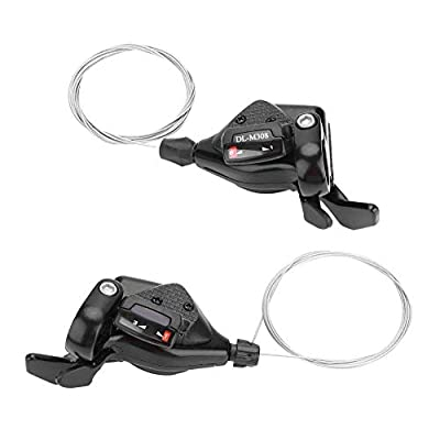 Vbestlife 1 Pair Triple 3X7/8/9 Speed Bike Bicycle Gear Shift Front Derailleur Left/Right Shifter for Shimano Speed Control System(3X7 Speed)