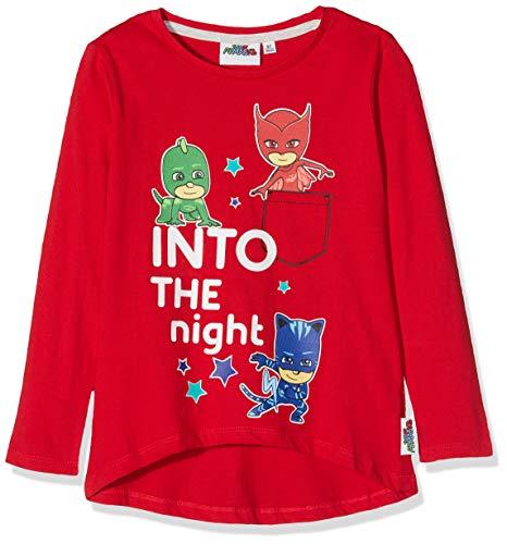 PJ Masks Mädchen 2276 T-Shirt, Rot, 116