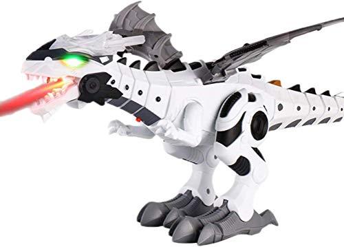 TU BANG SHOU Modelo de Dinosaurio Recolecta Niebla Rocotaje Robot Dragon Juguete Niños Caminando Dinosaurio Fuego Respiración Agua Agua Spray con Luces y Sonidos Dinosaurios indominus Rex