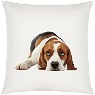 Beagle Image Design Large Cushion Cover with Filling