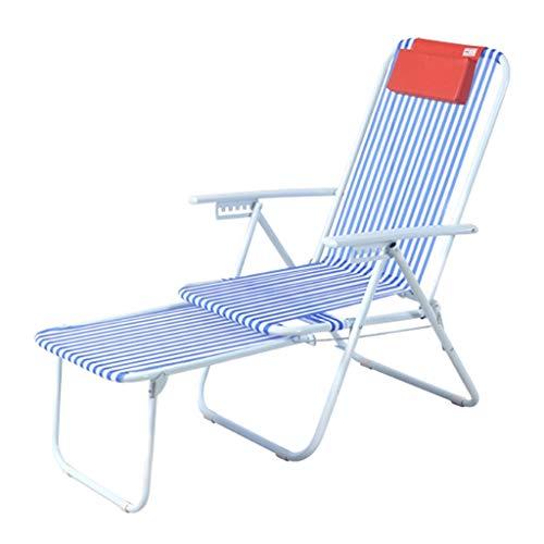 WPL Silla Plegable La Silla Plegable es Robusto y Duradero con apoyabrazos, sillas reclinables Ajustables Beach se utilizan for Acampar, al Aire Libre, jardín, etc. Silla de Camping (Color : B)