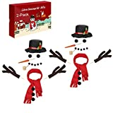 2 Pack Snowman Decorating Kit, Colovis 16Pcs Snowman Making Kit Snow Man Dress Up Winter Outdoor Kids Fun Toys Christmas Holiday Party Decoration Gift