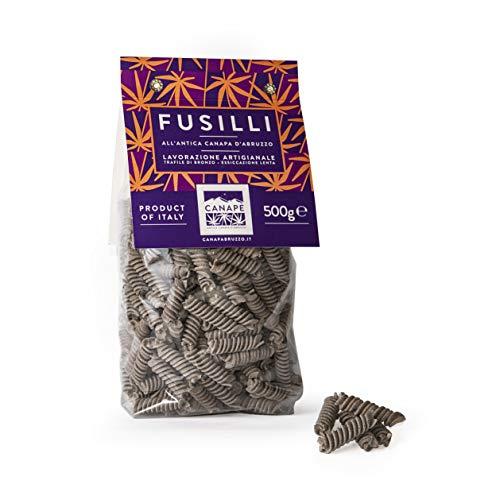 Canapè Fusilli con farina di semi di canapa sativa 500gx12pz, ad alto contenuto di fibre, ricco di proteine vegetali, a basso contenuto di zuccheri