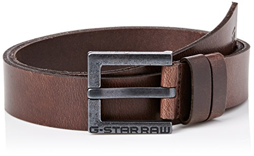 G-STAR RAW Duko Belt Cinturón, Marrón (Dk Brown/black Metal 8127), 95 para Hombre