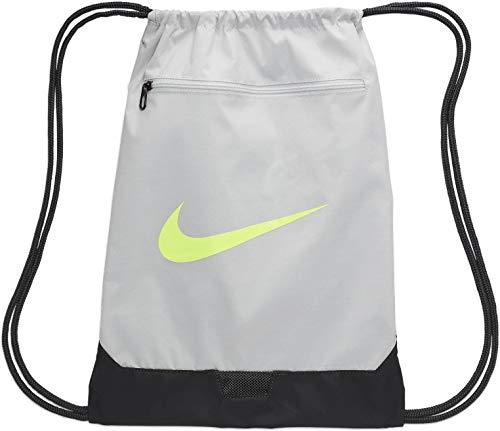 Nike Brasilia, Sacca per La Palestra E L\'Allenamento Unisex Adulto, Photon Dust/Dk Smoke Grey/Ghost Green, MISC