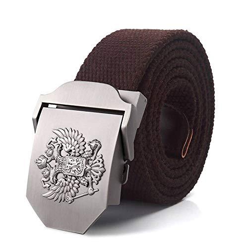 JWJQTLD Cinturón De Hombre,Hombres Mujeres Cinturón De Lona Militar Emblema Nacional Ruso...