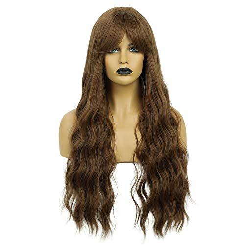 comprar pelucas mujer rizado largo on-line