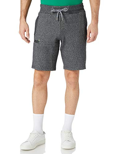 Superdry Mens ORANGE Label Classic Shorts, Mid Grey Texture, L