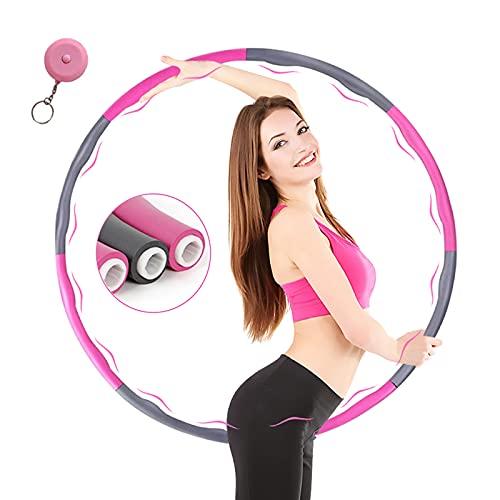 MELARQT Hula Hoop Reifen, Fitness Hula Hoop zur Gewichtsreduktion für Erwachsene & Kinder EIN 6-8-Teiliger Abnehmbarer Hula Hoop Reifen, abnehmen Reifen Gymnastik für Taille/Hüfte für Training
