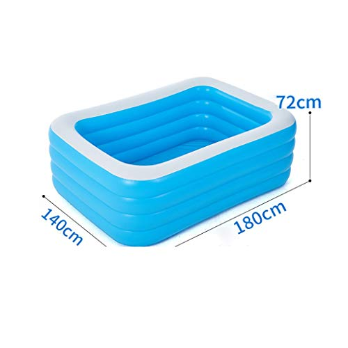 Inflatable Pools Sommer Rechteckige, Haushaltsverschleißfeste Thick Ozean Ball Pool for Garten-Pools Bad Barrel Badewanne Pool (Size : 210cm)