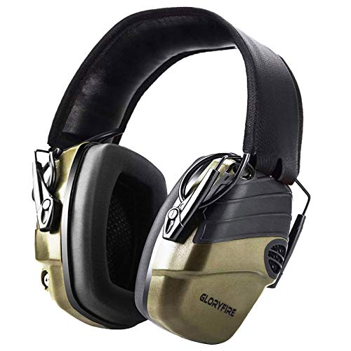 Electronic Shooting Earmuff Shooting Ear Protection Sound Amplification 6 Times Electric Earmuffs Perfect for Hunting and Shooting