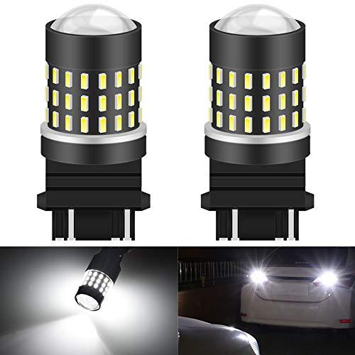 KATUR 3157 3047 3057 Ampoule LED 3014 54 Jeux de puces à remplacer pour Clignotant, Marche arrière, Stop Stop Frein, Feux de stationnement pour véhicules de Camping, Blanc xénon (Pack de 2)
