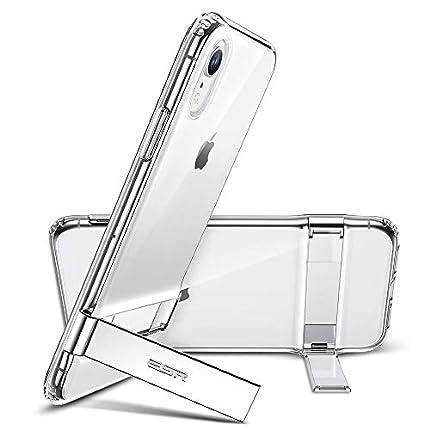 """ESR Funda con Kickstand Compatible con iPhone XR 6.1"""", Carcasa TPU con Soporte Metal Vertical y Horizontal, Anti-arañazos y Anti-gloples,Transparente"""