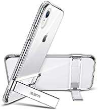 ESR Metal Kickstand Case for iPhone XR, [Vertical and Horizontal Stand] [Reinforced Drop Protection] Flexible TPU Soft Back for The iPhone XR, Clear
