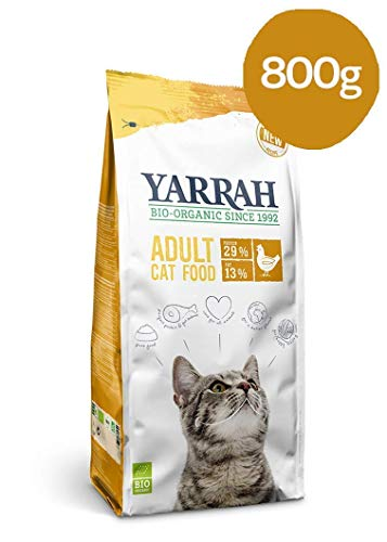 Yarrah Cibo per Gatti Biologico Secco (Pollo, 800 g)
