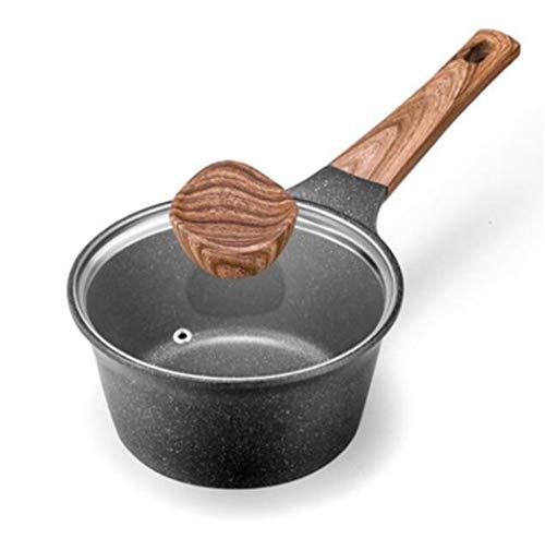 Shengtangb Petite Casserole Faitout INOX Cocotte Induction Cocotte en Fonte Induction Marmite en Fonte Maifan Stone Milk Pan Cookies Anti-Adhésives Cuiseur À Lait 18Cm