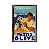 Vintage-Poster Pastis Olive, HD Blechschild, Vintage,