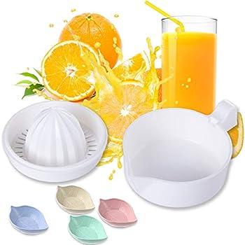 Lemon Squeezer Citrus Juicer with Strainer Hand Juicer Citrus Orange Squeezer Manual Juicer Lemon Orange Hand Squeezer with 4Pcs Leaf Shape Sauce Dish