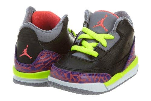 Jordan Nike Air 3 Retro Flip Toddler Shoes-Gray/Light Blue