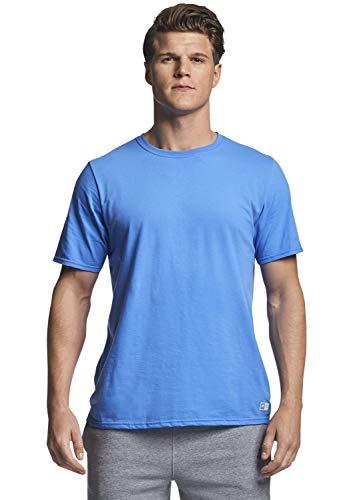 Russell Athletic Men's Cotton Performance Short Sleeve T-Shirt, Collegiate Blue, L