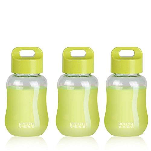 JILIGUALA UPSTYLE Mini Bottles, Plastic, for Travel, Sports, Milk, Coffee, Tea, Juice, 180 ml