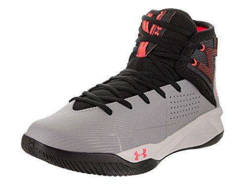 Under Armour Rocket 2 1286385-037, Zapatos de Baloncesto Hombre, Gris (Steel), 42.5 EU