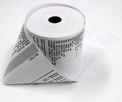 "3-1/8"" x230' (50 POS Rolls) Bpa Free Point-Of-Sale Thermal Receipt Printer Paper -318230 From BuyRegisterRolls"