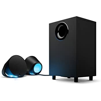 Logitech G560 PC Gaming Ultra Surround Sound Speakers with Game Driven RGB Lighting, UK Plug